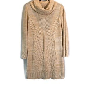 Boston Proper Chunky Sweater Dress NWT Sand M